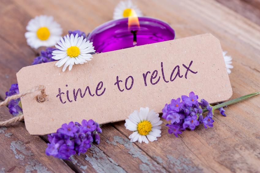 Time to relax mit duftendem Lavendel